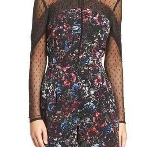 Adelyn Rae Dark Floral Print Long Sleeve Romper